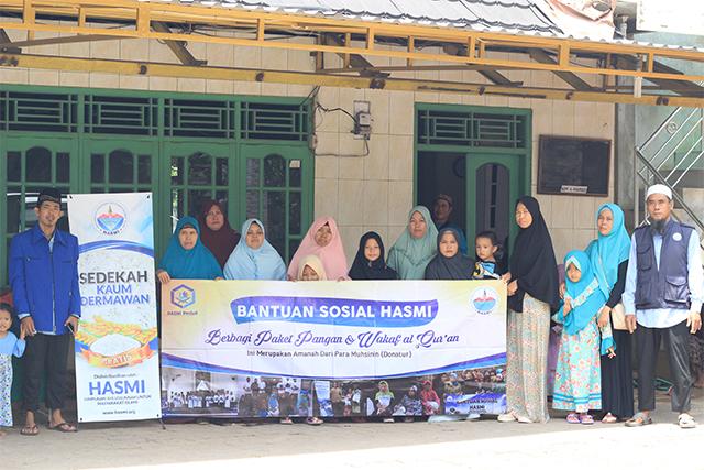 HASMI-Tebar Bantuan Pangan Ke Masyarakat Kp. Pengkolan Desa Pasir Jaya