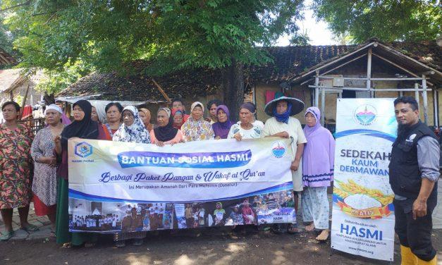 HASMI-Tebar Bantuan Pangan Ke Masyarakat Tanjung Kait Tangerang
