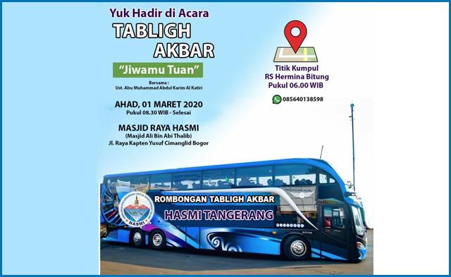 HASMI Tangerang Sediakan Bus Gratis untuk Pemberangkatan Tabligh Akbar HASMI